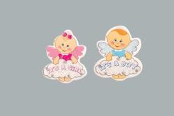 - Bebek Bulutlu Melek Mavi Sticker