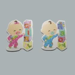 - Bebek Gırl Küplü Karton Pembe Sticker