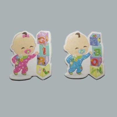 Bebek Gırl Küplü Karton Pembe Sticker
