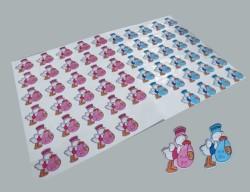 - Bebek Leylekli Mavi Sticker