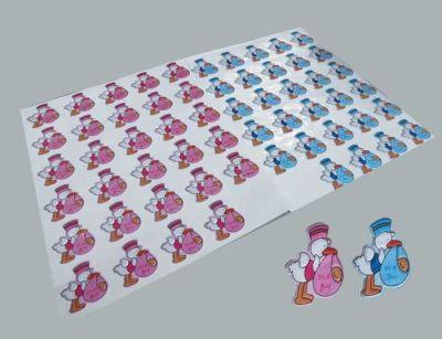 Bebek Leylekli Mavi Sticker
