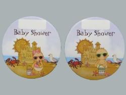- Bebek Tatilde Baby Shower Mavi Sticker