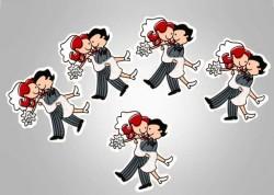 - Gelin Damat Simli Sticker