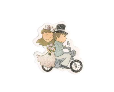 Gelin Damat Motorsikletli Yeni Sticker