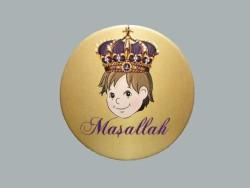 - Sünnet Çocuğu Kral Taçlı Sticker