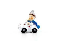 Sünnet Çocuğu Arabalı Minik Beyaz - Thumbnail