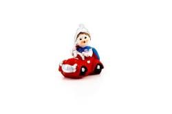Sünnet Çocuğu Arabalı Minik Kırmızı - Thumbnail