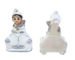 Sünnet Çocuğu Beyaz Arabalı Magnet - Thumbnail