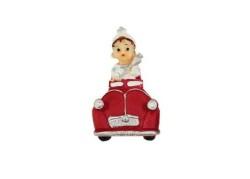 Sünnet Çocuğu Kırmızı Arabalı Magnet - Thumbnail