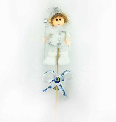 Çubuklu Pelerinli Sünnet Çocuğu Beyaz