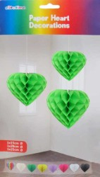 - Petek Modeli Kalpli 3 Lü Set Yeşil Asma Süs