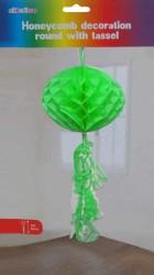 - Petek Modeli Püsküllü 25x85 cm Yeşil Asma Süs