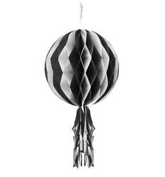 - Süs Petek Ponpon Beyaza Siyah 30cm Pk:1 Kl:200