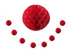- Petek 8 Li Küçük Boy Kırmızı Ponpon