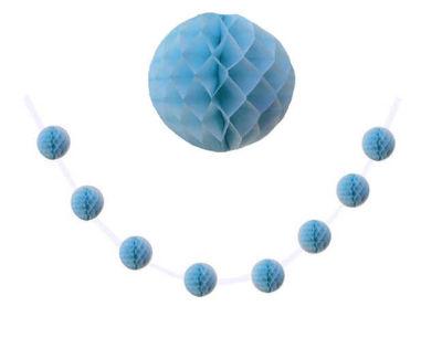 Petek 8 Li Küçük Boy Mavi Ponpon