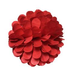 Petekli 3lü Set Kırmızı Ponpon - Thumbnail