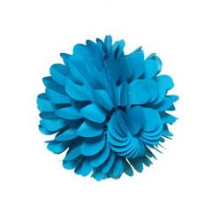 Petekli 3lü Set Mavi Ponpon - Thumbnail