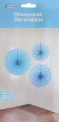 - Yelpaze Asma Süs 3 Lü Set Mavi