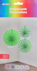 - Yelpaze Asma Süs 3 Lü Set Yeşil