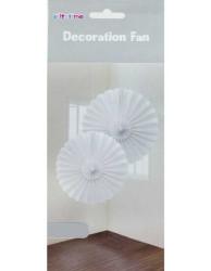 - Yelpaze Modeli 2 Li Set Asma Süs 35 cm Beyaz