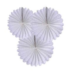 - Yelpaze Modeli 30 cm 3 Lü Set Beyaz