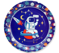- Tabak Astronot Uzay Karton 23 Cm Pk:8 Kl:24