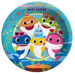 - Tabak Baby Shark 23 Cm Pk:8 Kl:48
