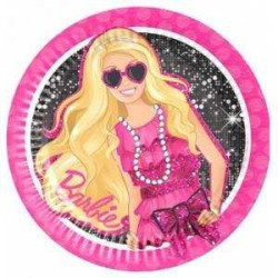 - Barbie Klasik Kağıt Tabak (23 cm) 8'li Paket