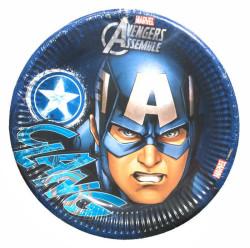 - Captain America Tabak (23 cm) 8'li Paket