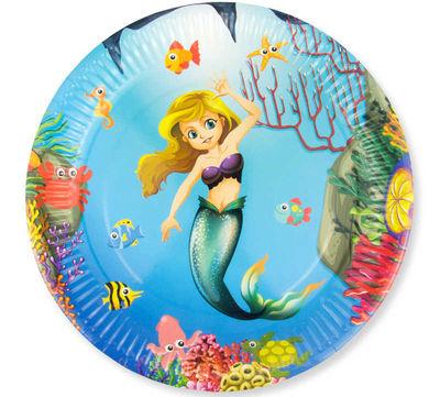 Tabak Deniz Kızı Karton 23 Cm Pk:8 Kl:24