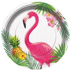 - Flamingo Kağıt Tabak (23 cm) 8'li Paket