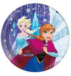 - Frozen Snowflakes Tabak (23 cm) 8'li Paket