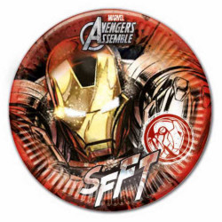 - Iron Man Tabak (23 cm) 8'li Paket