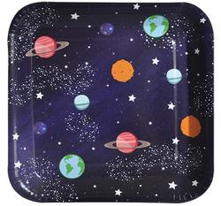 - Tabak Kare Kozmik Galaksi 18 Cm Pk:8 Kl:60