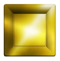 - Metalize Altın Kare Tabak 29 cm 8'li Pk.