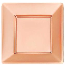 - Rose Gold Metalize Kare Tabak (29 cm) 8'li Paket