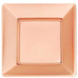 - Tabak Kare Metalize Rose Gold 29cm Pk:6 Kl:20