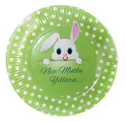 - Tabak Karton Tavşan Resimli 23cm P8-24