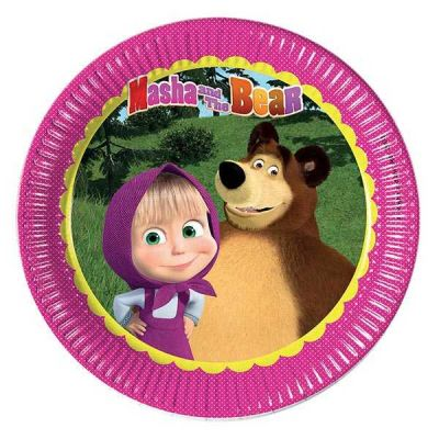 Masha And The Bear Tabak (23 cm) 8'li Paket