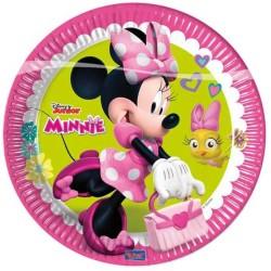 - Minnie Happy Helpers Kağıt Tabak (23 cm) 8'li Paket