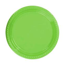 - Tabak Plastik Yuvarlak 22 Cm Yeşil Pk:25 Kl:24