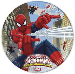 - Spiderman Web Warriors Tabak (23 cm) 8'li Paket
