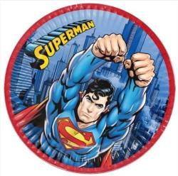 - Superman Tabak (23 cm) 8'li Paket