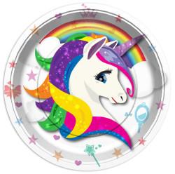 - Unicorn Tabak (23 cm) 8'li Paket