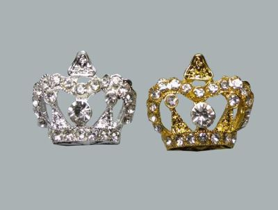 Kristal Taşlı Büyük Taç Gümüş