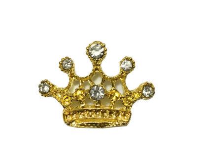 Kristal Taşlı Küçük Taç Altın