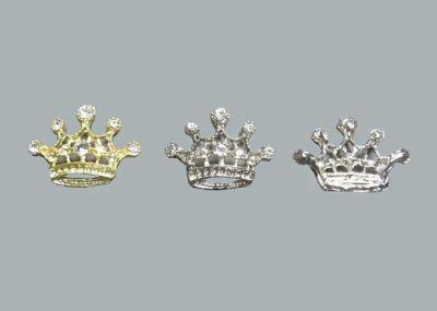 Kristal Taşlı Küçük Taç Gümüş