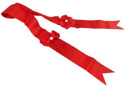 - Takı Kuşağı Fiyonklu Kırmızı Pk:2mt