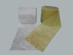 - Taş Görünümlü Plastik Şerit Gümüş P10yard(mt)-40