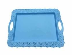- Tepsi Dantelli Plastik Mavi